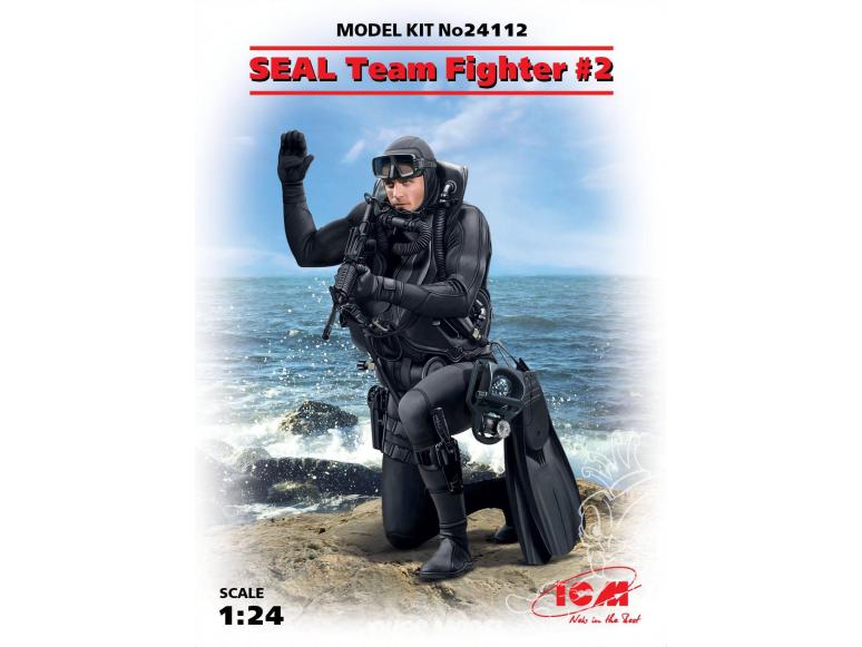Icm maquette figurine 24112 SEAL Team Fighter №2 1/24