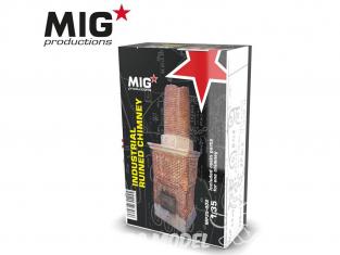 MIG Productions by AK MP35-402 Cheminée industrielle en ruine 1/35
