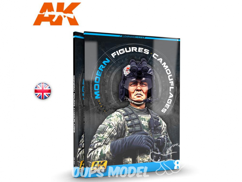 Ak Interactive livre Learning Series 8 AK247 Camouflages figurines modernes en Anglais