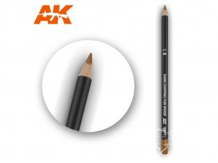 Ak interactive AK10017 Crayon acrylique de vieillissement Ecaillage foncé pour bois