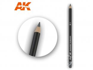 Ak interactive AK10018 Crayon acrylique de vieillissement Gun Metal (Graphite)