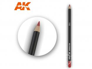 Ak interactive AK10020 Crayon acrylique de vieillissement Rouge appret