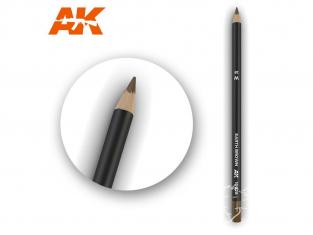 Ak interactive AK10028 Crayon acrylique de vieillissement Brun terre