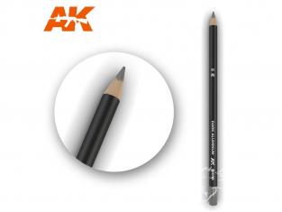 Ak interactive AK10035 Crayon acrylique de vieillissement Aluminium foncé - Nickel