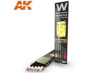 Ak interactive AK10042 Set de Crayons acryliques de vieillissement Ecaillage et Vieillissement
