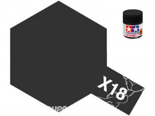 Peinture maquette tamiya x18 XL noir satiné 23ml