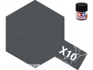 Peinture maquette tamiya x10 XL gun metal brillant 23ml