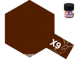 peinture maquette tamiya x09 XL marron brillant 23ml