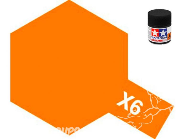 peinture maquette tamiya x06 XL orange brillant 23ml
