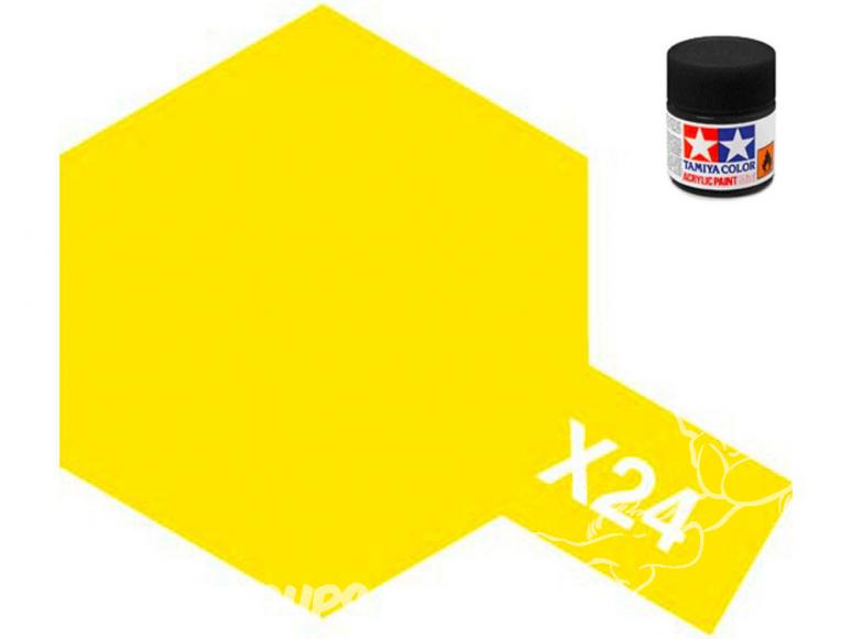 peinture maquette tamiya x24 jaune clear