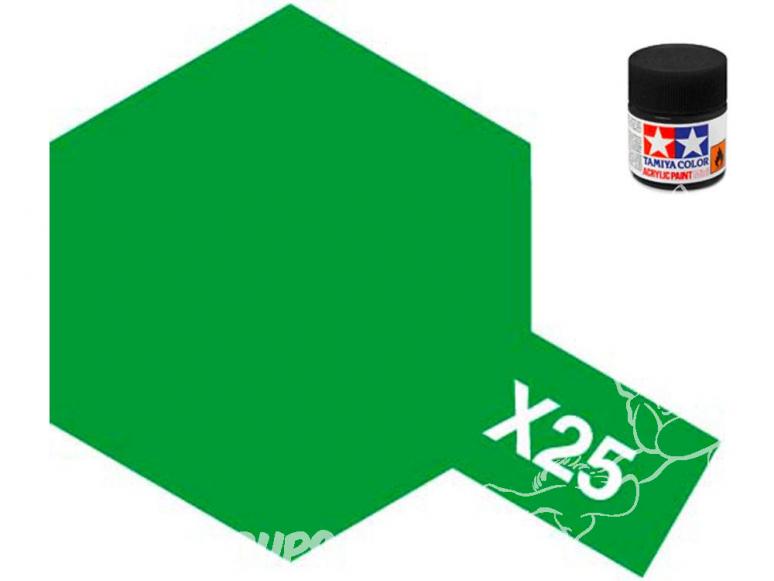 peinture maquette tamiya x25 vert clear
