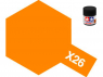 peinture maquette tamiya x26 orange clear 10ml