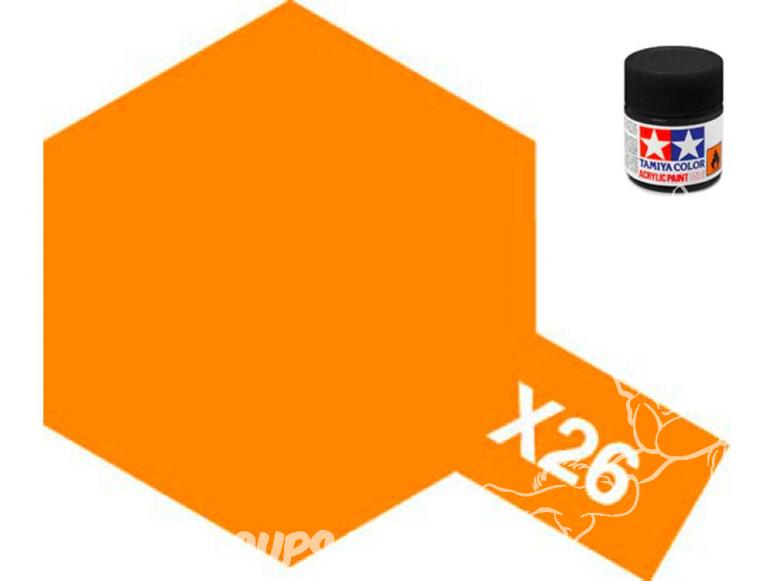 peinture maquette tamiya x26 XL orange clear 23ml