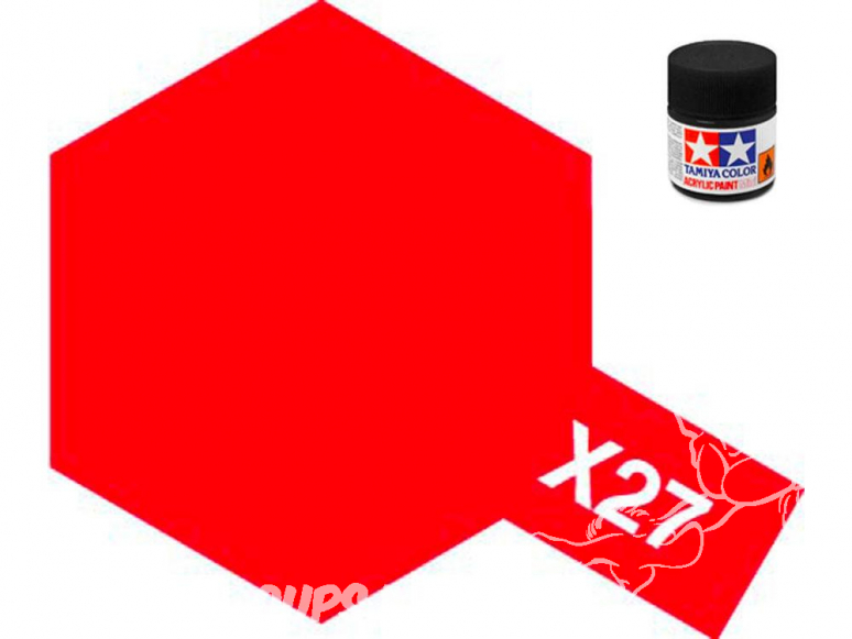 peinture maquette tamiya x27 rouge clear