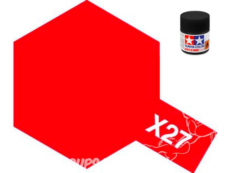 peinture maquette tamiya x27 XL rouge clear 23ml