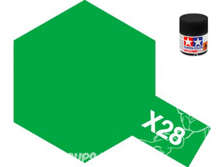 peinture maquette tamiya x28 vert herbe brillant