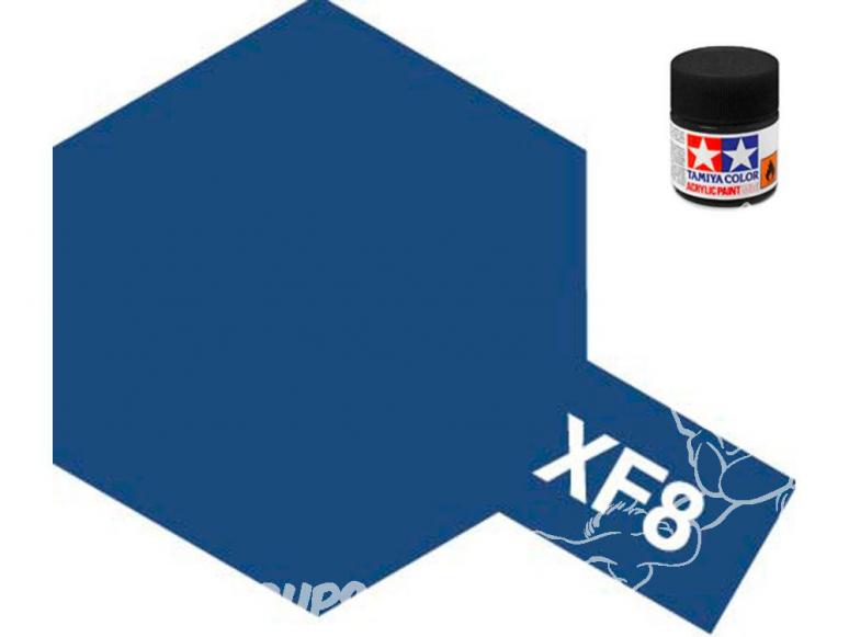 peinture maquette tamiya xf08 bleu mat
