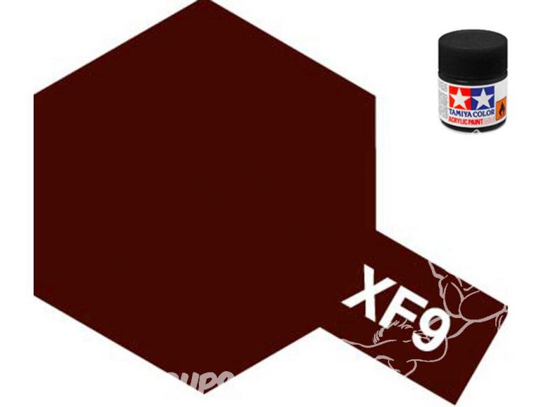 peinture maquette tamiya xf09 rouge coque mat