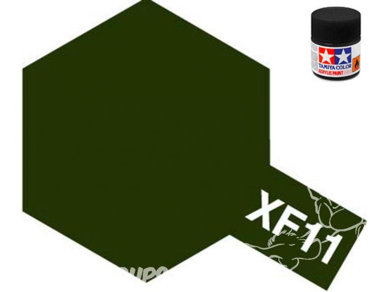 peinture maquette tamiya xf11 j,n vert mat