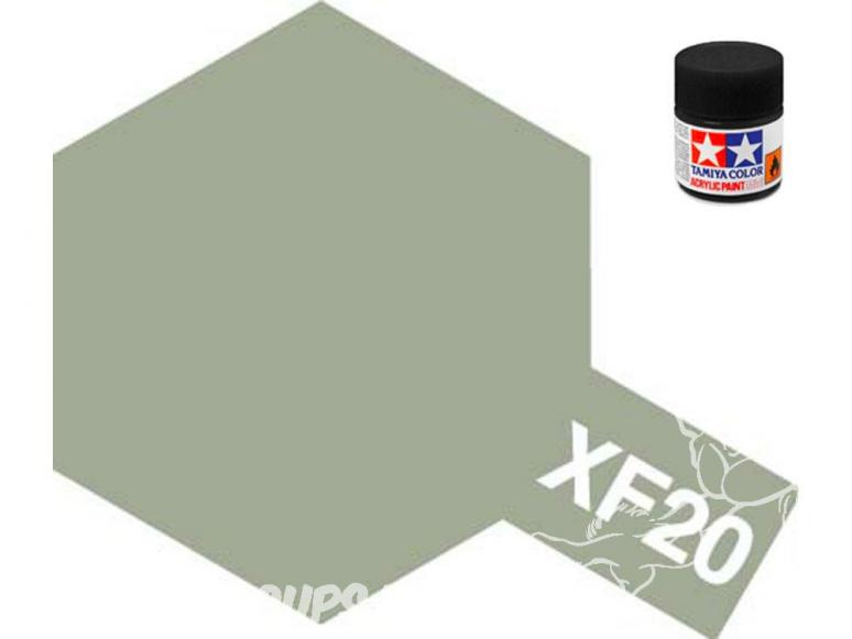 peinture maquette tamiya xf20 gris moyen mat