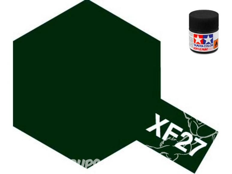 peinture maquette tamiya xf27 vert foncé mat
