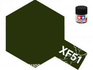 peinture maquette tamiya xf51 XL kaki drab mat 23ml