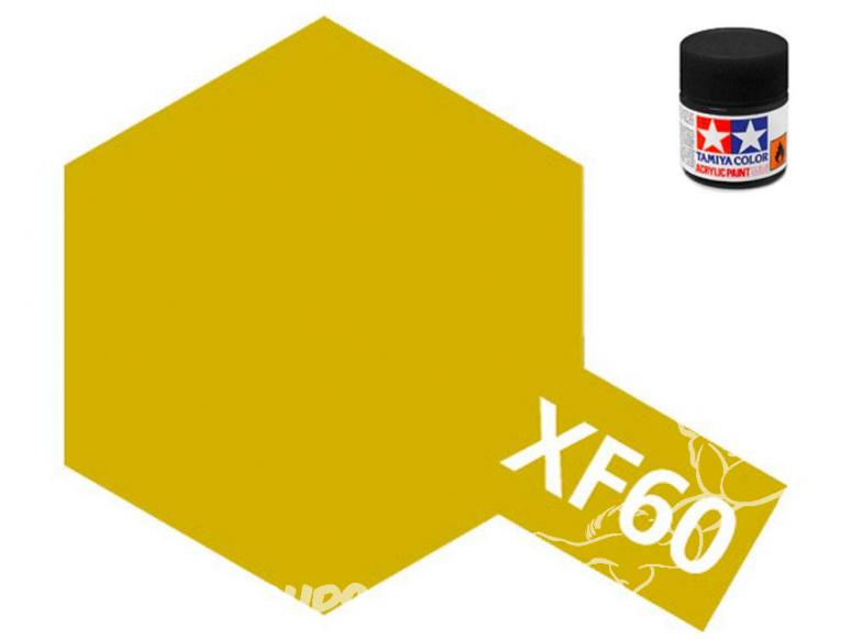 peinture maquette tamiya xf60 jaune foncé mat