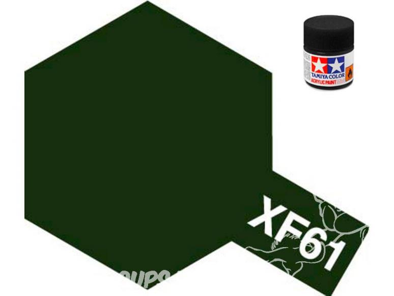 peinture maquette tamiya xf61 XL vert foncé mat 23ml