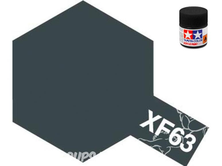 peinture maquette tamiya xf63 gris allemand mat