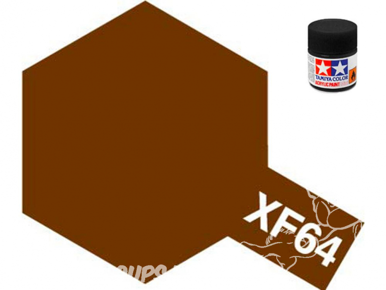 peinture maquette tamiya xf64 XL marron rouge mat 23ml