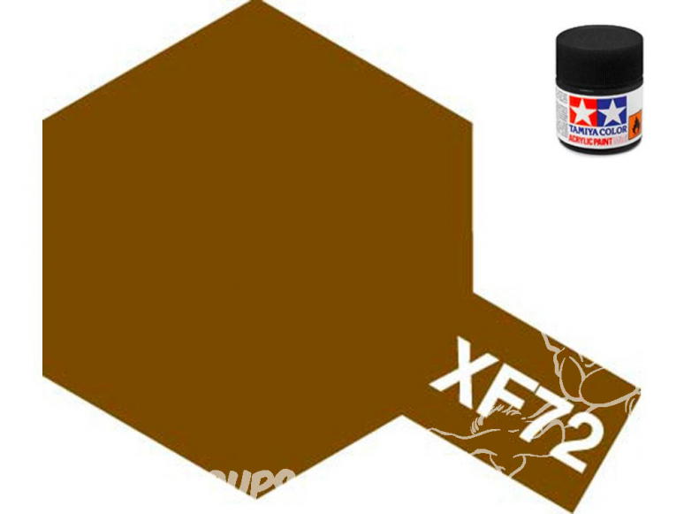 peinture maquette tamiya xf72 marron