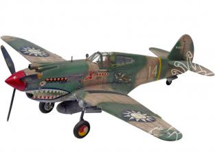 Revell US maquette avion 5209 P-40B Tiger Shark 1/48