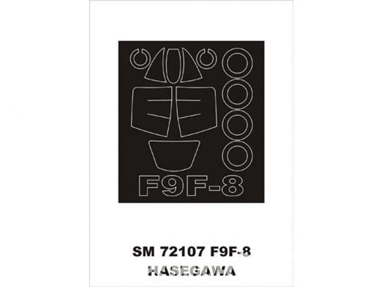 Montex Mini Mask SM72107 F9F-8 Cougar Hasegawa 1/72