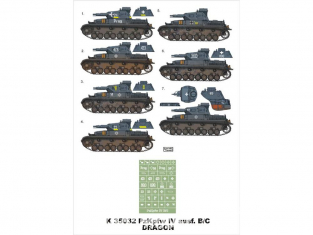 Montex Super Mask K35032 PzKpfw IV Ausf. B/C Dragon / Tristar 1/35