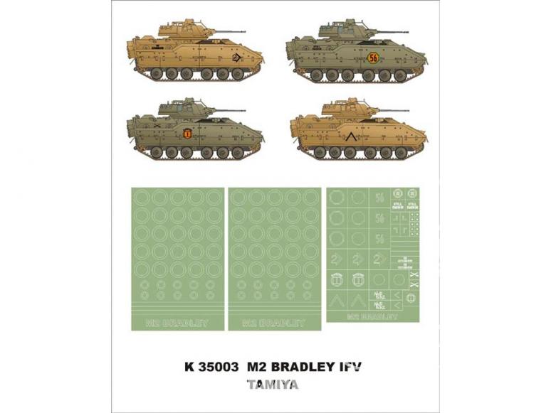 Montex Super Mask K35003 M2 Bradley IFV Tamiya 1/35