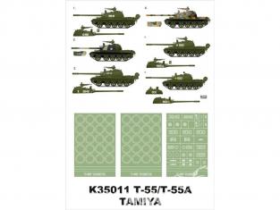 Montex Super Mask K35011 T-55 / T-55A Tamiya 1/35