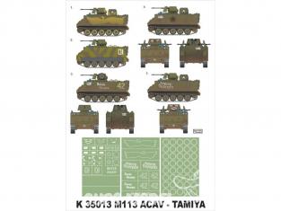 Montex Super Mask K35013 M-113 ACAV Tamiya 1/35
