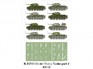 Montex Super Mask K35014 Soviet Heavy Tanks part III KV-1S 1/35