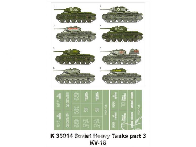 Montex Super Mask K35014 Soviet Heavy Tanks part III KV-1S 1/35