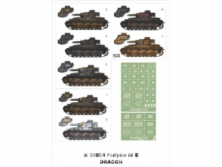 Montex Super Mask K35024 PzKpfw IV Ausf.E 3 en 1 Early - Late & DAK Version Dragon 1/35
