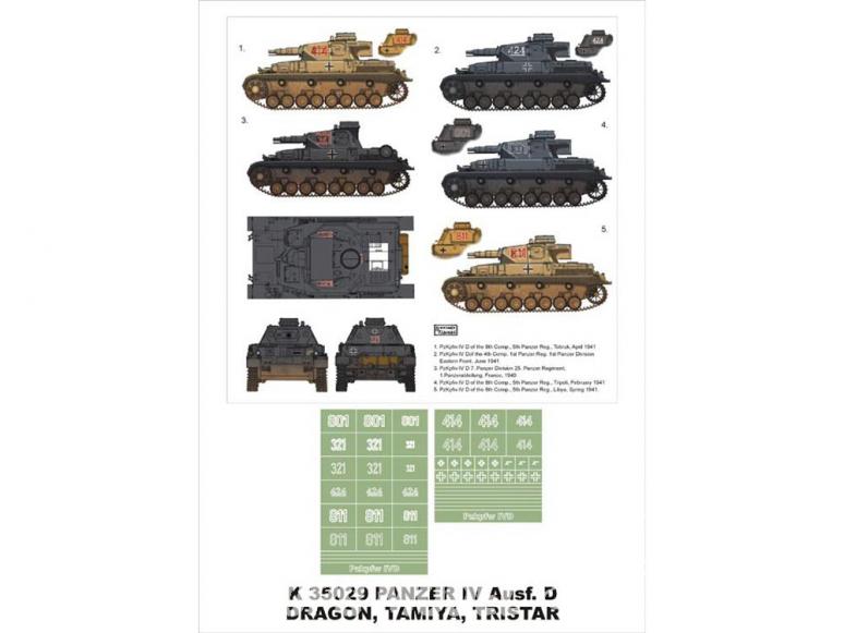 Montex Super Mask K35029 PzKpfw IV Ausf.D Dragon - Tristar - Tamiya 1/35