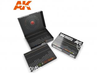 Ak interactive AK10047 Set Deluxe Crayons acryliques de vieillissement  avec boite