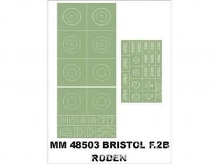Montex Maxi Mask MM48503 Bristol F.2B Roden 1/48