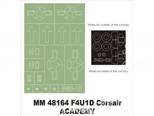 Montex Maxi Mask MM48164 F4U-1D Corsair Academy 1/48
