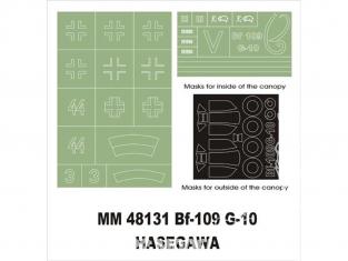 Montex Maxi Mask MM48131 Messerschmitt Bf109G-10 Hasegawa 1/48