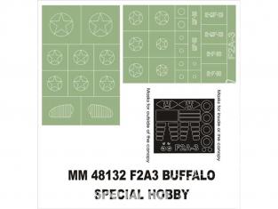 Montex Maxi Mask MM48132 F2A3 Buffalo Special Hobby 1/48