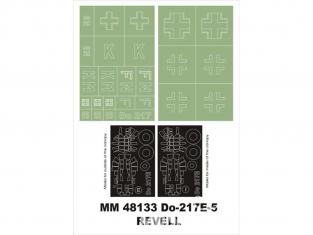 Montex Maxi Mask MM48133 Dornier Do-217E-5 Revell 1/48