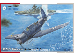 Special Hobby maquette avion 72264 SB2U-3 Vindicator Marines Go To War 1/72