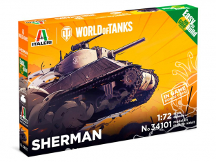 Italeri maquette militaire 34101 World of Tanks Sherman 1/72