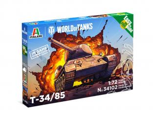 Italeri maquette militaire 34102 World of Tanks T-34/85 1/72